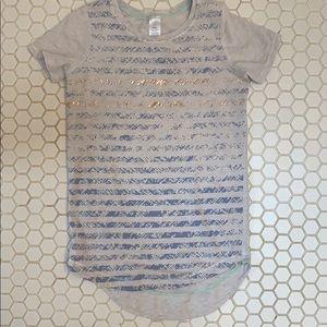 Ivivva girls foil stamp print t-shirt